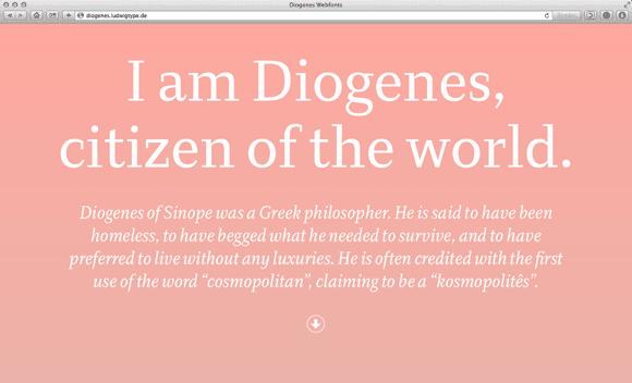 Diogenes Webfonts